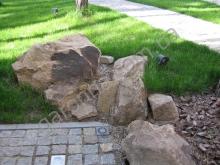 Натуральный камень (песчаник) в ландшафтном дизайне Харьков