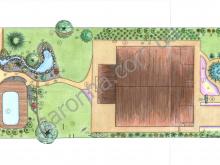 Реализованный ландшафтный дизайн-проект .